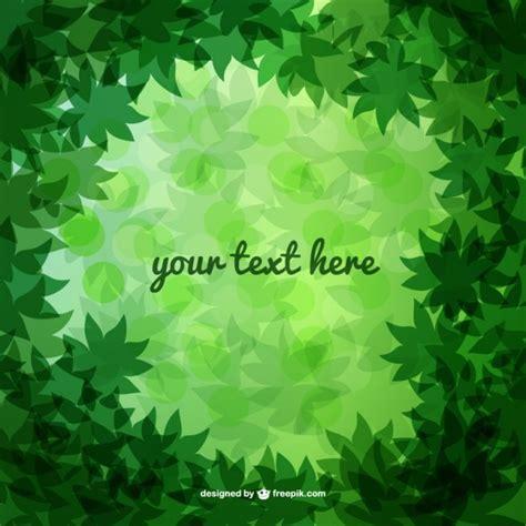fondo con hojas verdes vectores gratis