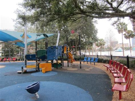 playground picture of lake eola park orlando