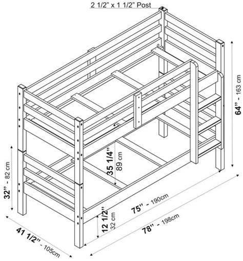 Bunk Bed Dimensions by Arizona Bunkbed By Palace Imports