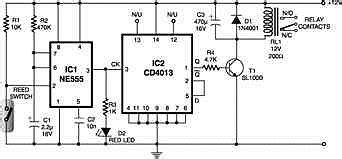 Magnetic Proximity Sensors Electronics Circuits Hobby
