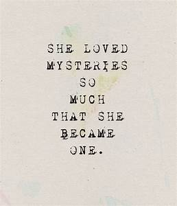 Quotes About Mysterious Girl. QuotesGram