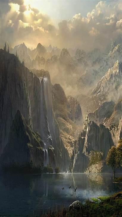 Fantasy Landscape Wallpapers Mobile Scenery Abyss Wallpaperplay