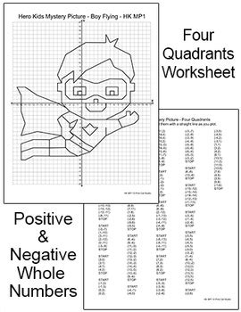 Superhero Coordinate Graphing Pictures Ordered Pairs End Of The Year Activities
