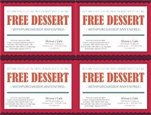 dinner coupon template marketing archive With free meal coupon template