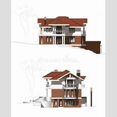 Modernes Bauernhaus Stock Abbildung Illustration Von