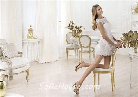 Casual Informal Illusion Neckline Short Mini Lace Wedding