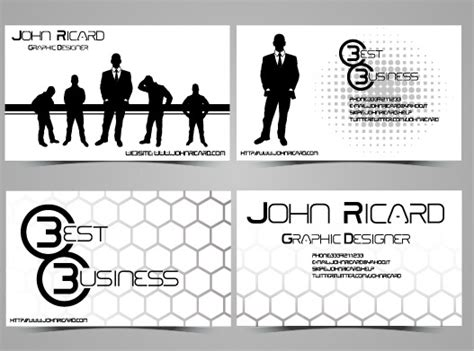 Black And White Style People Business Cards Vector Free Business Visiting Card Design Sample Maker & Cool Unique Materials With Us Flag Cards University Of Pittsburgh In India Airways Login