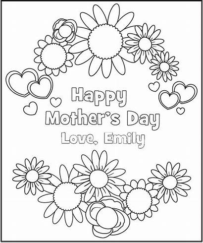 Coloring Printable Pages Mother Personalized Mothers Frecklebox
