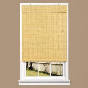 homebasics bayville bamboo roll up shade 48 in