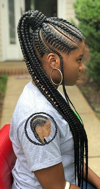 Ponytail Braid Hairstyles For by 25 Lemonade Braided Ponytail Hairstyles 2018 For