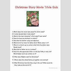 Christmas Story Movie Trivia Quiz Worksheet  Free Esl Printable Worksheets Made By Teachers