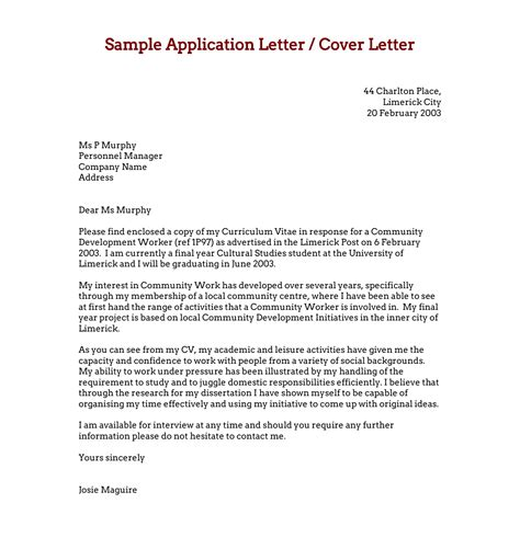 writing  application letter   essays  essays