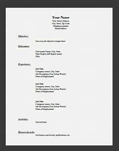easy resume templates with fill in the blanks resume With easy fill in resume