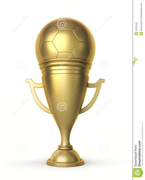 golden football cup stock photography image