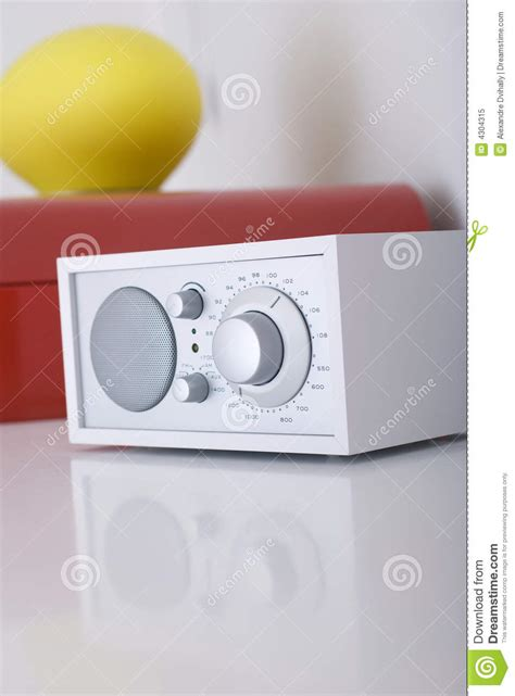 modern radio set with retro design royalty free stock photo image 4304315