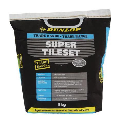 dunlop 5kg tileset tile adhesive bunnings warehouse