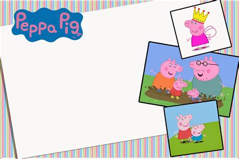 peppa pig  printable invitations  party printables