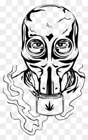 Gas Mask Clipart Ww2 - Gas Mask Drawing Easy - Free