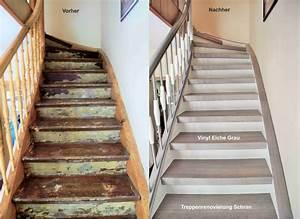 Alte Fliesen Streichen : treppenrenovierung arnstadt vinyl grau flur pinterest treppe flure und treppenhaus ~ Markanthonyermac.com Haus und Dekorationen