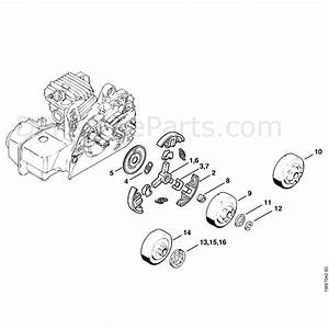 Stihl 025 Chainsaw  025  Parts Diagram  Clutch
