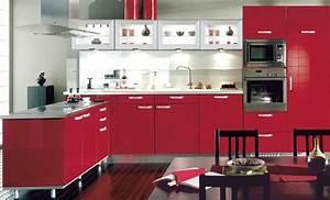 et pourquoi pas une cuisine equipee rouge With decoration des cuisines