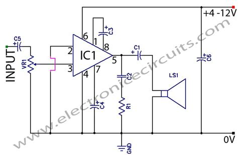 Low Voltage Audio Power Amplifier Circuit Diagram World