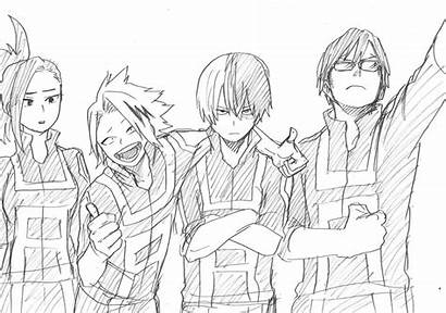 Academia Hero Coloring Anime Theseacroft Aminoapps Credit