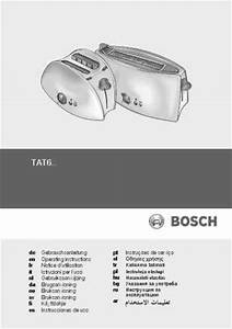 Bosch Tat 6104 Toaster Download Manual For Free Now