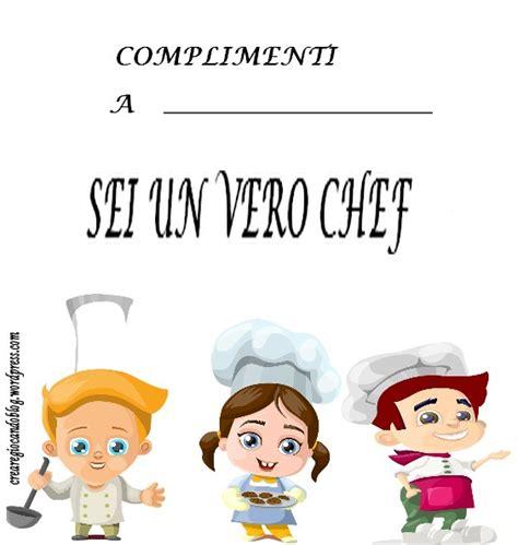 diploma di cucina il diploma da chef cuoco crearegiocandoblog