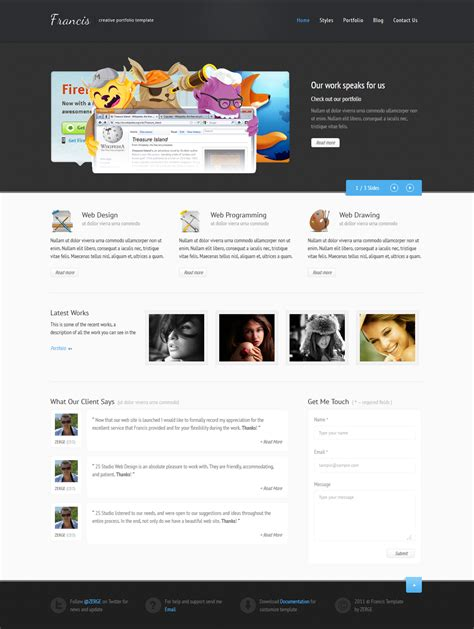 Html5 Template Francis Html5 Css3 Template By Zergev On Deviantart