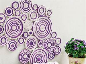 Diy wall art projects using newspaper kitchen and