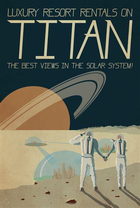 Vintage Futuristic Retro Poster Titan
