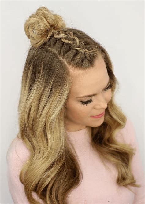 mohawk braid top knot cowgirl hairstyle ideas