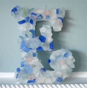 17 best images about sea glass on pinterest glasses With glass letters for wall