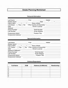 printable estate planner worksheet legal pleading template With final expense prospecting letter