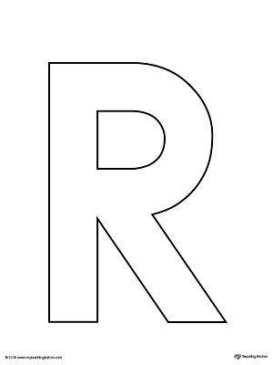 uppercase letter r template printable preschool crafts 109   a517401a4a784c5c26193eace1da1938