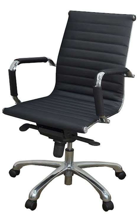 regency eames style leather office chair