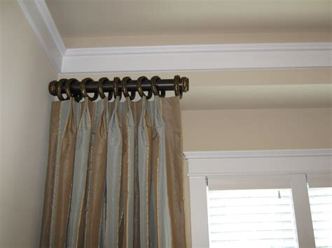 curtain rods side panels