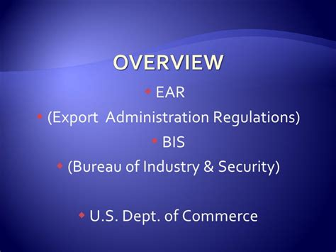 bureau of export administration export compliance itar 2 of 3