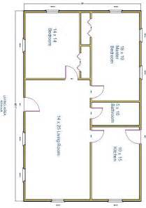 1000sq Ft House Plans Photo by 1000 Square Foot 2 Bedroom Pdf Pro Barn Plans