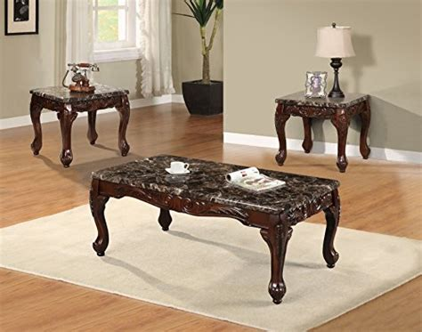 ct faux marble top cherry coffee table   tables