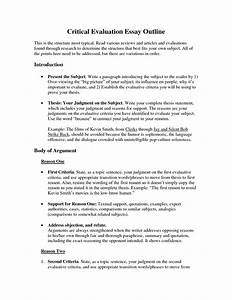 critical evaluation essay outline example examples what does the term creative writing mean critical evaluation essay outline example examples