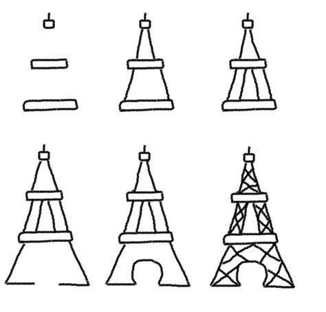 How To Draw The Eiffel Tower Springtime In Paris Party
