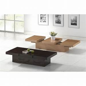 cambridge brown wood modern coffee table with hidden With designer coffee table with storage