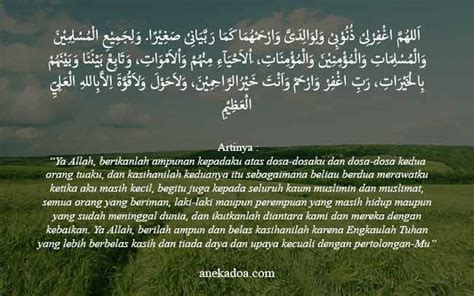 doa untuk kedua orang tua anekadoa com