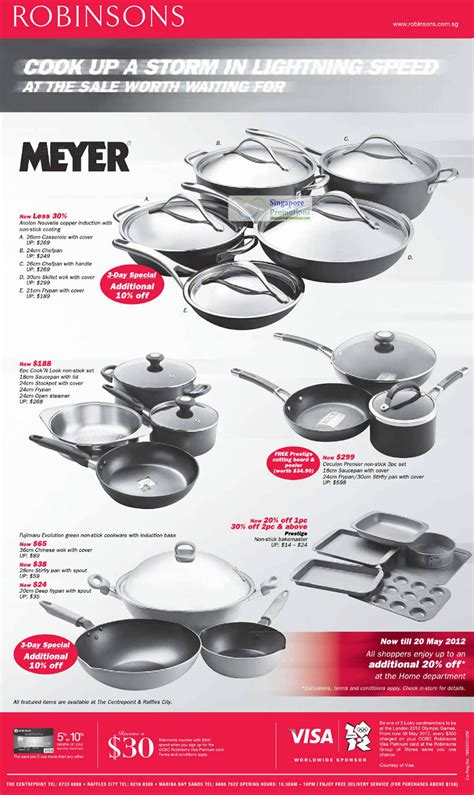 meyer casseroles anolon circulon cook   prestige fujimaru robinsons  sale