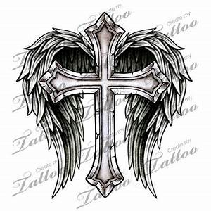 Marketplace Tattoo Cross with Wings #14700 ...