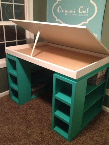 craft desk with storage craft desk procraftinating pinterest