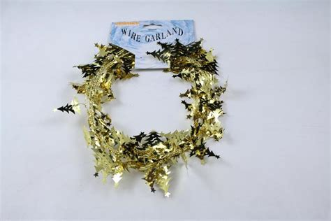 gold christmas tree wire garland