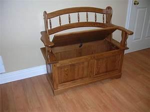 Wooden Entrance Bench With Storage — STABBEDINBACK Foyer